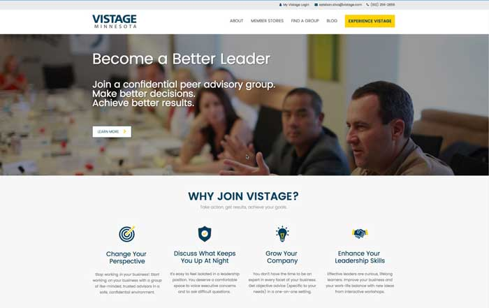 Vistage content marketing